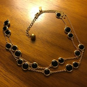 Kate Spade black and gold necklace